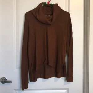 The Softest Rust Lush Cow Neck Sweater